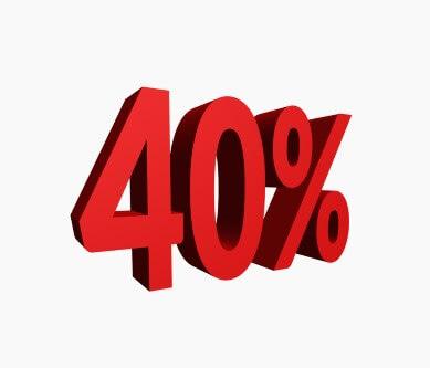 כיתוב של משכנתא של 40%