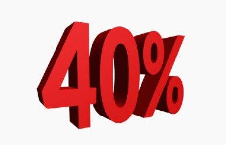 משכנתא 40%